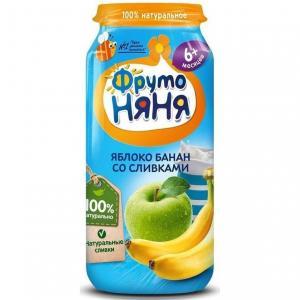 Пюре  яблоко-банан, с 6 месяцев, 250 г ФрутоНяня