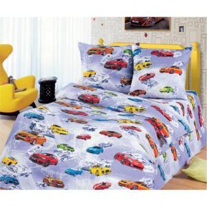 Комплект постельного белья  Автомир, цвет: красный/белый 4 предмета Артпостель