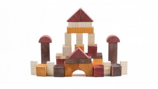 Деревянная игрушка  Конструктор Краски дня День 105 деталей Томик