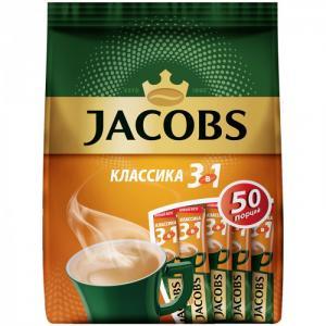 Кофе растворимый Классика 3 в 1 порошкообразный 50 шт. Jacobs