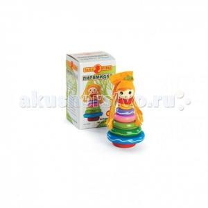 Деревянная игрушка  Пирамидка 6550R Папа Карло