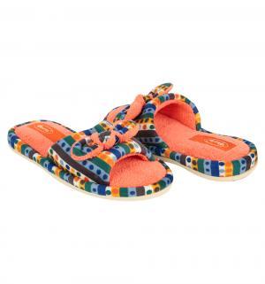 Тапочки , цвет: голубой/оранжевый Forio