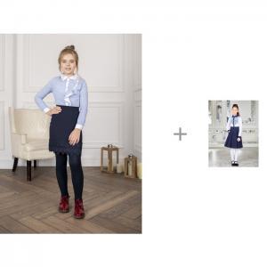 Блузка 928184 с юбкой для девочки 928103 Luminoso