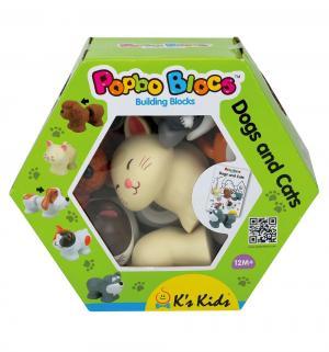 Мягкий конструктор Ks Kids Popbo Blocks Котики и щенята K's
