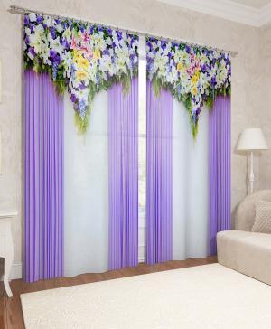 Фотошторы Насыщенность цветов 1 Сирень
