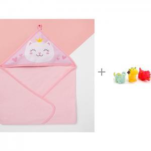 Полотенце Little crown 75х75 см и игрушки для ванной Драконы 3 шт. Играем вместе Крошка Я