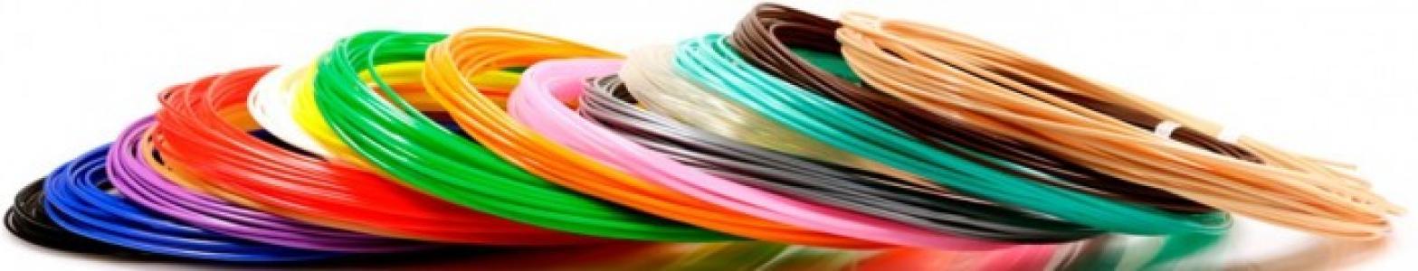 Комплект пластика PLA для 3Д ручек (15 цветов) Unid