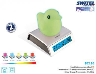 Термометр-часы  с будильником Switel