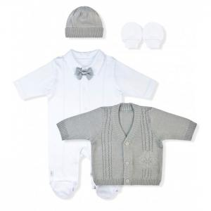 Комплект (комбинезон, кофточка, шапочка, рукавицы) Марсель Лео