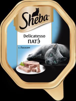 Влажный корм  Delicatesso для взрослых кошек, пате с лососем, 85г Sheba