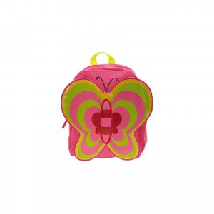 Рюкзак Бабочка, цвет фуксия с зеленым 3D Bags