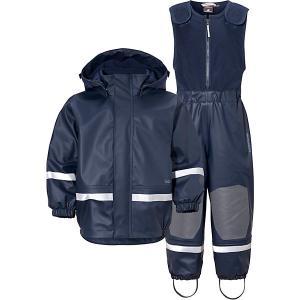 Комплект Didriksons Boardman: куртка и полукомбинезон. Цвет: синий