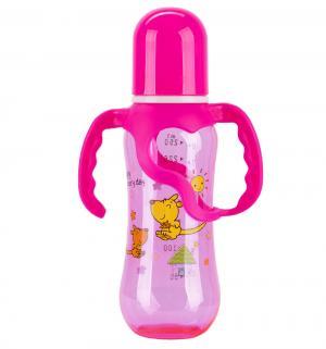 Бутылочка  Цветная пластик, 250 мл, цвет: розовый Бусинка