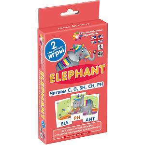 Занимательные карточки Английский язык: Слон (Elephant) Level 4, Клементьева Т. АЙРИС-пресс