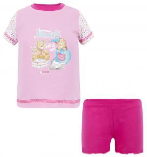 Комплект футболка/шорты , цвет: розовый Tiger baby & kids