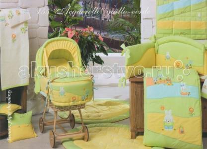 Постельное белье  Acquerelli - комплект в чемодане BabyPiu
