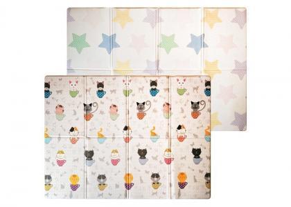 Игровой коврик  двухсторонний Soft Cat & Star (книжка) 190х130х1 см Mambobaby