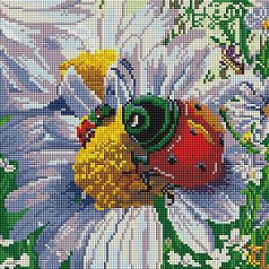 Алмазная мозаика  Летняя жизнь, 30х30 см Белоснежка