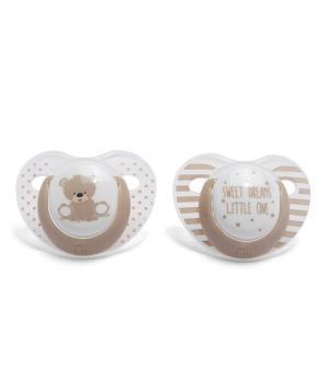 Пустышки  ортодонтические Медвежонок, 2 шт. в упаковке, цвет: голубой Mothercare