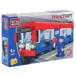Конструктор  вагон метро, с фигуркой, 138 дет. Город мастеров. Цвет: разноцветный
