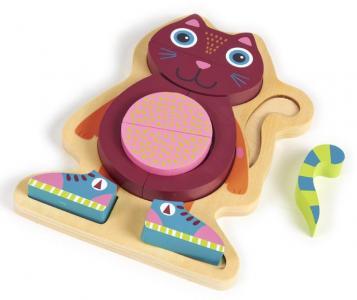 Деревянная игрушка  Пазл Кошка Oops