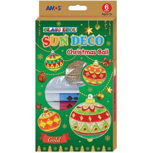 Набор витражных красок  Новогодний №3 с витражами Amos