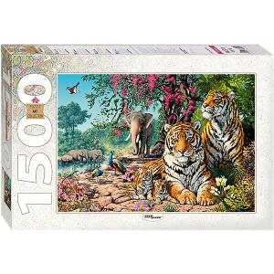 Мозаика puzzle 1500 Тигры Степ Пазл