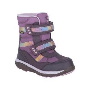 Утепленные ботинки Kapika. Цвет: фиолетовый