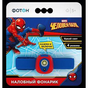 Налобный фонарик  Человек-паук Фотон. Цвет: синий
