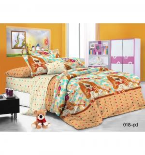 Комплект постельного белья , цвет: оранжевый Cleo