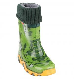 Резиновые сапоги  Крокодил, цвет: зеленый Demar