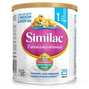 Молочная смесь  Гипоаллергенный 1 0-6 мес, 375 г Similac