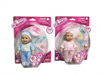 Кукла Micro Baby Пупс в костюмчике с аксессуарами 15 см Junfa