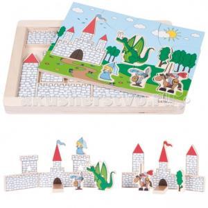 Деревянная игрушка  Развивающий Пазл Замок 11002 Beleduc
