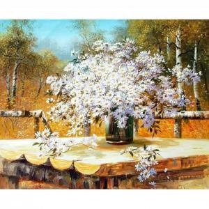 Картина по номерам Сунг Ли Букет полевых ромашек 40х50 см Molly