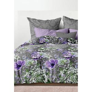 Комплект постельного белья  Вдохновение, 1,5-спальное Романтика. Цвет: разноцветный