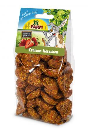 Лакомство  для грызунов Сердечки с клубникой, 150г JR Farm