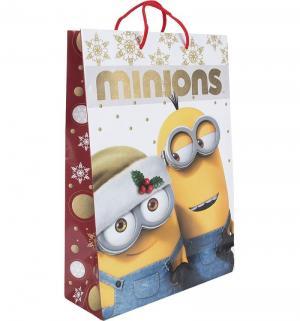 Подарочный пакет  Рождество Миньонов 23 х 18 см Миньоны
