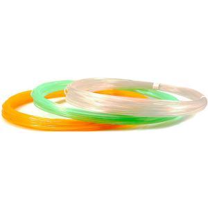 Комплект пластика  PRO для 3Д ручек, 3 светящихся цвета в органайзере Unid. Цвет: разноцветный