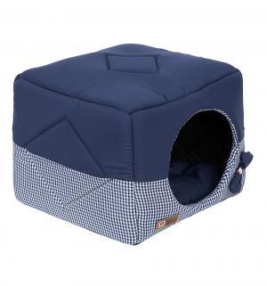Лежанка для кошек  Домосед, цвет: синий, 45*45*45см Зоогурман