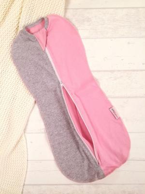 Конверт-кокон Розовый меланж, цвет: розовый/серый Супермамкет