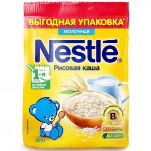 Каша  молочная Рисовая Моя 1-ая Каша.Начинаем прикорм с 4 месяцев 200 г Nestle