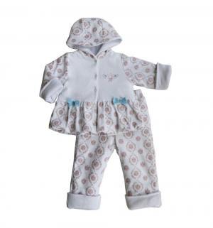Комплект куртка/брюки , цвет: белый/розовый Soni Kids