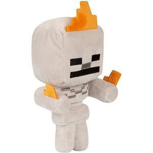 Мягкая игрушка  Happy Explorer Skeleton on fire, 18 см Minecraft. Цвет: weiß/beige