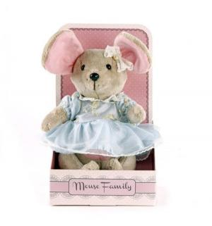 Мягкая игрушка  Вaby mouse Мышка шарнирная Капелька в платье Angel Collection