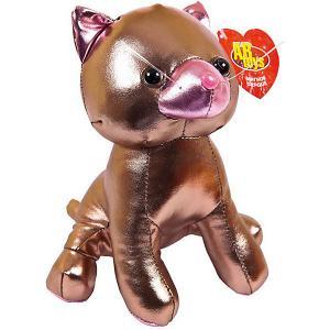 Мягкая игрушка  Металлик Кошка, 18 см ABtoys. Цвет: коричневый