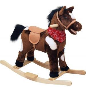Качалка-лошадка  Oscar, цвет: коричневый/белые пятна/темная грива Baby Mix