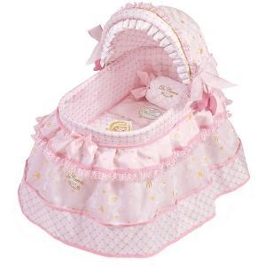 Кроватка для кукол  Мария с козырьком, 46 см DeCuevas. Цвет: розовый/белый