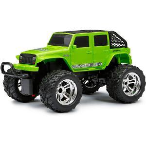 Машинка  1:18 РУ Chargers Truck зеленая New Bright. Цвет: зеленый