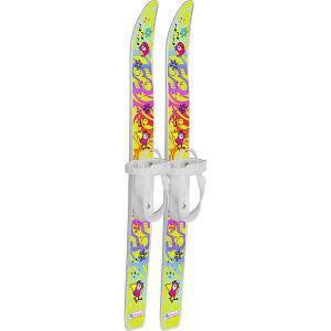 Лыжи детские Лыжики пыжики Чижики с палками, в сетке (75/75) Цикл. Цвет: белый